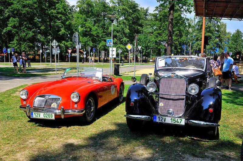 Soutěž elegance historických vozidel v Bohumíně 2019